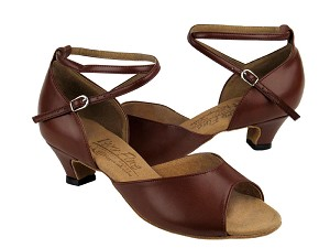 S9220 Dark Tan Leather & Cuban Heel