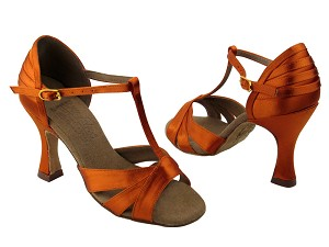 S92325 Orange Tan Satin