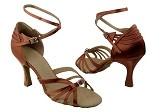 SERA1145 Dark Tan Satin