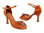 SERA1671b Orange Tan Satin