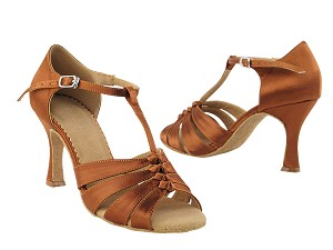 SERA1672 Dark Tan Satin