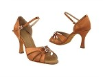 SERA1131 Dark Tan Satin