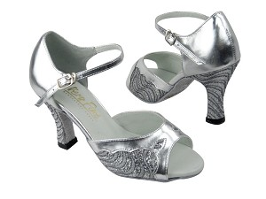 1616 214 Silver Grey Wave Glitter_Silver Leather Trim