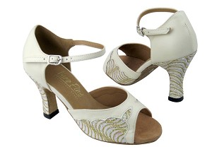 1616 216 White Gold Wave Glitter_Creamy Leather Trim
