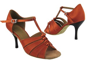 1672 182 Orange Tan Satin