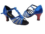 1692 247 Gem Blue Satin_131 Red Heel