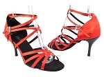 5008 112 Red Satin_Black Plated Heel