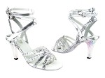 5009 7 Silver Sparkle_3in Square Transparent Heel