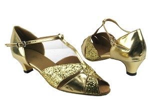 6006 9 Gold Sparkle_Gold Leather