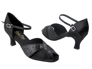 6006 Black Sparkle (X) & Black Satin (Without T Strap)