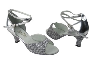 6012 214 Silver Grey Wave Glitter & Silver Leather