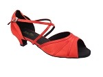 6023 112 Red Satin_Whole Shoes