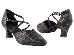 6825B 85 Black Snake_Whole Shoes