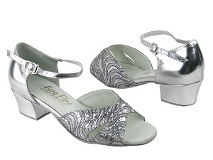803 214 Silver Grey Wave Glitter_Silver Leather