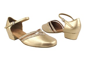 8881 57 Light Gold Leather_74 Gold Sparklenet Trim