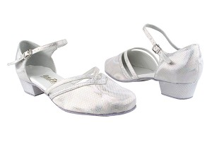 8881 86 Silver Laser Satin_Whole Shoes