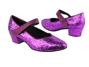 9626 11 Purple Sparkle_111 Purple Satin Strap
