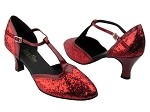 9627 Red Sparkle & Red Patent Trim