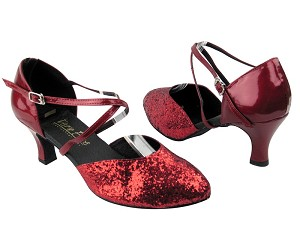 9691 Red Sparkle_Red Patent