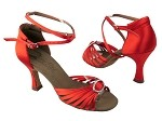 C1671B BD15 Red Satin_Stone with longer straps
