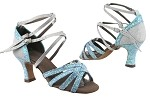 C5008Mirage BF23 Light Blue Sparkle_BD67 Glitter Silver Satin