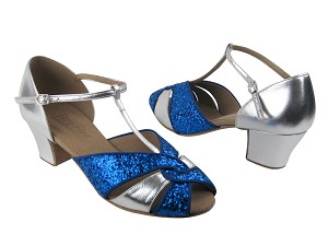C6006 BH4 Blue Sparkle & BA32 Silver Leather