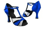 C6016 BF15 Silver Sparkle & BD68 Gem Blue Satin