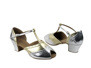 C6034 Silver Leather & Gold Leather