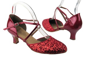 C9691 BF18 Red Sparkle (F) & BA72 Red Patent (B)