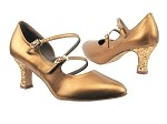 PP201 BA45 Dark Tan Gold_BH5 Dark Tan Sparkle Heel