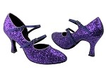 PP201 BH2 Purple Sparkle & BD71 Purple Satin Trim