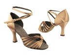 S2807 2 Tan Satin_Long Ankle Strap