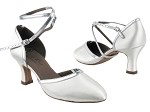 S9116_C9621 Long Strap_BD13 White Satin_BA32 Silver Leather Trim