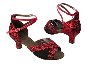 S9204 BF18 Red Sparkle_Black Mesh
