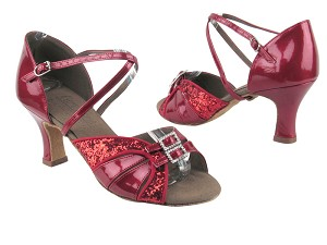 S92307 BF18 Red Sparkle_BA72 Red Patent