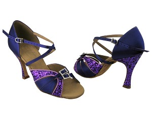 S92307 BH2 Purple Sparkle (H) & Purple Satin