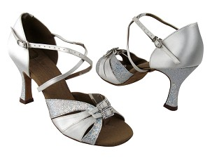 S92307 Silver Scale (H) & White Satin