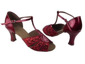 S9238 BF18 Red Sparkle & BA72 Red Patent