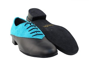 2504 282 Blue Suede_B_Black Leather_F