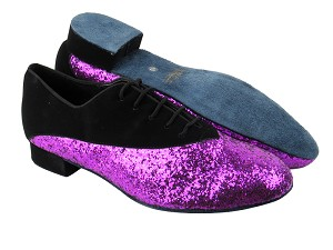 2504 Black Nubuck_11 Purple Sparkle