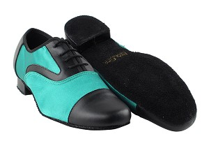916102 14 Black Leather_F_B_302 Green Satin_M