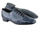 917101 243 Pruple Blue Crocodile PU