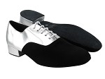 919101 Black Nubuck_119 Silver Leather