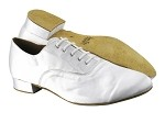 919101 White Satin_Brown Sole
