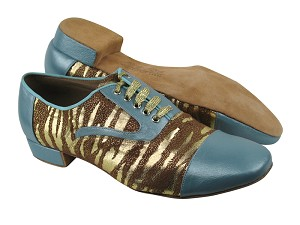 C916102 BC10 Light Blue Light Leather_BD39 Zebra Tan