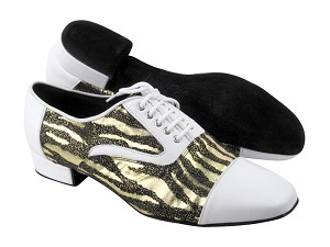 C916102 White Leather & BD40 Balck Zebra