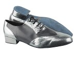 M100101 224 Snake Grey_Black Leather