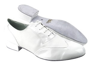 M100101 White Patent_White Leather