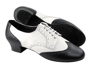 PP301 Black Leather & White Leather L