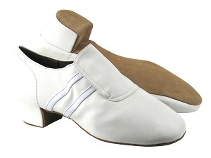 S410 White Leather_BA77 White Patent Trim